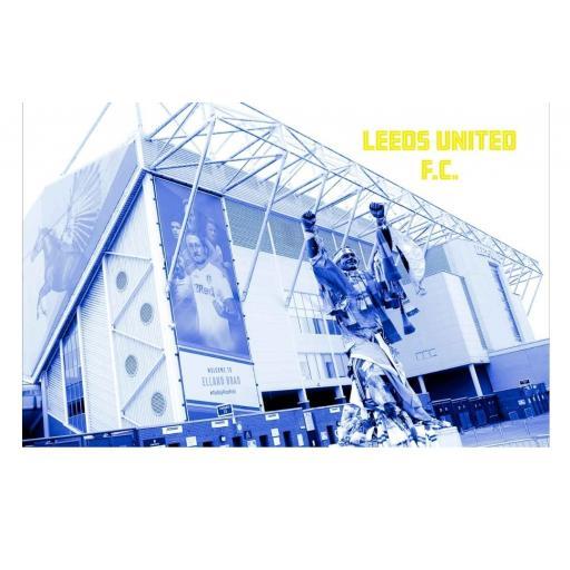 LUFC print 9 - Leeds United Elland Road print Blue