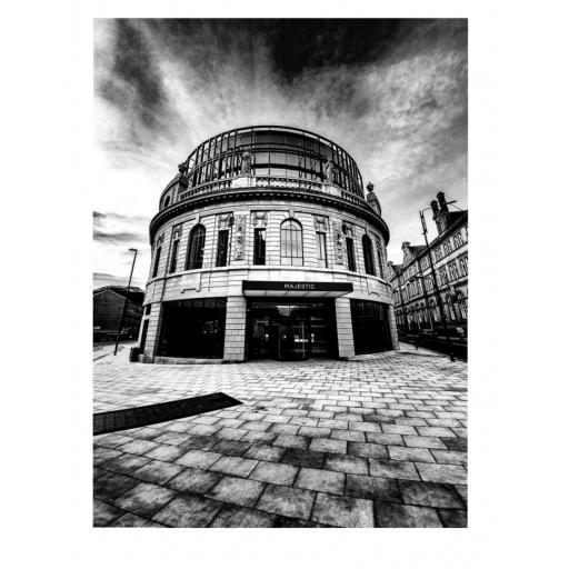 Leeds Majestic Monochrome print