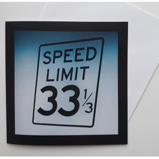 33 1/3 Vinyl Art card